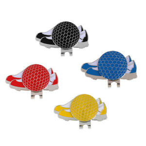 Funny-Sports-Shoe-Stainless-Steel-Golf-Hat-Clip-with-Magnetic-Ball-Marker