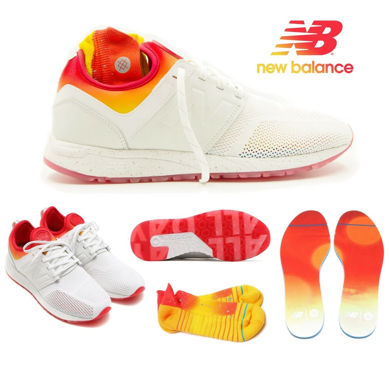 New Balance X Stance 247 Men's shoes All Day White Socks MRL247CO  150 Limited