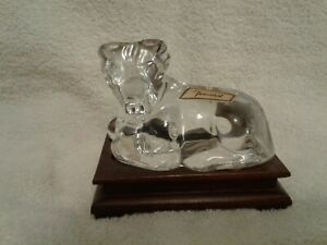 BACCARAT-CRYSTAL-RAM-WITH-FITTED-WOODEN-STAND