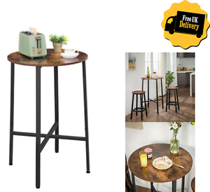 Industrial Breakfast Bar Table High Tall Stand Pub Round Kitchen Dining Room Ebay