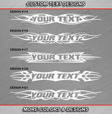 Fits PONTIAC GRAND PRIX Custom Windshield Tribal Flame Graphic Sticker Decal Car