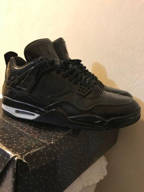 new concept e67b8 34ec1 Nike Air Jordan 4 IV Retro 11Lab4 Black Patent Leather size 14