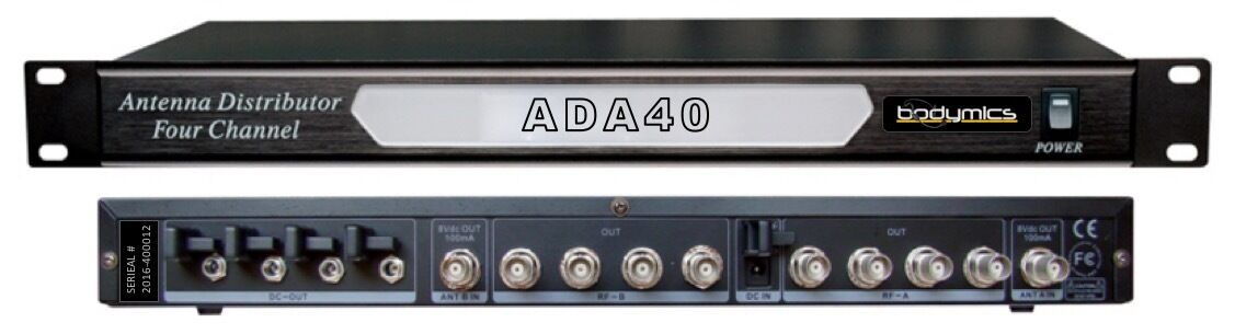 ADA40 Antenna Active Distribution - Wireless Mic 1u Dual 4 way - BNC (UA844 styl
