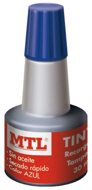 Tinta Azul para Sello Tampon 30 mls