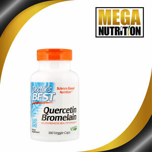 Doctor-039-s-Best-Quercetin-Bromelain-180-Vegetarian-Capsules-Healthy-Immunity