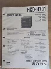 Schema SONY - Service Manual Mini Hifi Component System HCD-H701 HCDH701