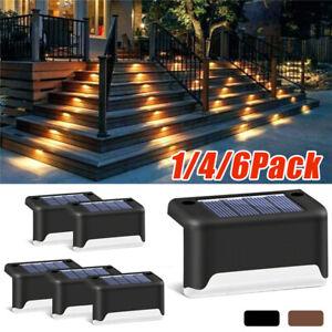1-4-6X-Solar-LED-Lampe-Solarleuchte-Zaunleuchte-Wegbeleuchtung-Treppen-Lampe