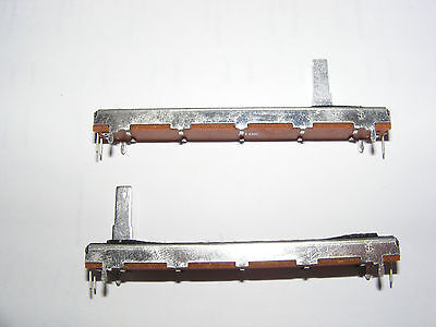 """w// Fader Cap RS Components 168-746 3.5/"""" Slide Tandem Pot 10K Log"""