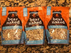 Lot 3 Bear Naked Granola Vanilla Almond Fit 45% Less Sugar