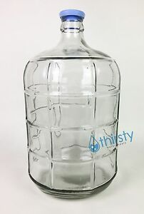 3 Gallon GLASS Water Bottle Carboy Canteen Jug Container Aqua H2O