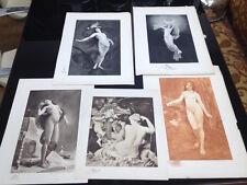 Lotto 5  Stampe  Antiche Liberty , Art Nouveau nude litographs