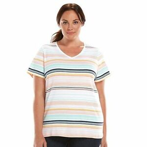 Croft-amp-Barrow-Essential-Classic-Tee-Shirt-Women-Plus-Size-3X-2X-1X