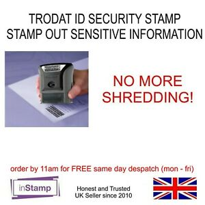 HANDY ERASE IT SECURITY ID PROTECTOR IDENTITY THEFT PROTECTION RUBBER STAMP