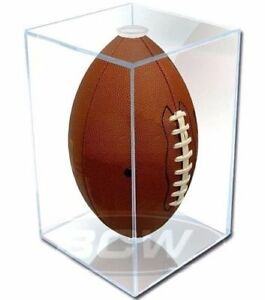 Pro-Mold-Full-Size-Football-Holder-Cube-Display-Case-UV-Protection-NFL-Super