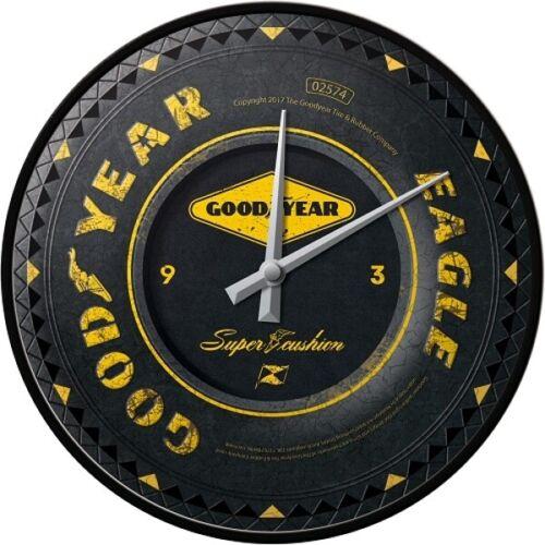 Goodyear Tires Reifen Nostalgie Wanduhr Glas,31 cm Wall Clock,Neu