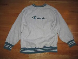 fab30651f Image is loading Vintage-CHAMPION-Reverse-Weave-Embroidered-Ringer -SCRIPT-Logo-