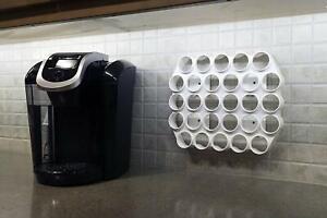 28-K-Cup-Dispenser-Coffee-Keurig-Pod-Holder-Wall-or-Cupboard-Mounted-K-Cup