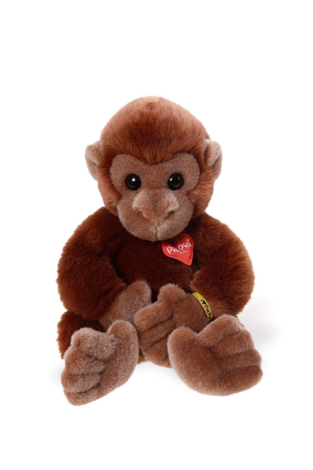 Pia Pia Club 17030 30 cm Bauer Wildlife Sitting Monkey Plush Toy