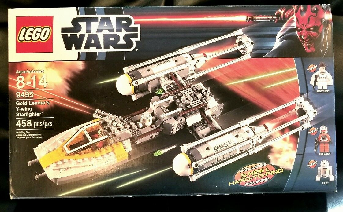 Lego 9495 Star Wars gold Leader's Y-Wing Starfighter - NEW - Sealed Leia R5-F7
