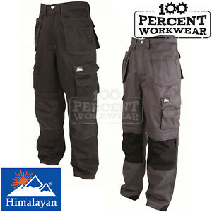 Pro-Hard-Wearing-High-Quality-Work-Trousers-Cargo-Knee-Pad-Pockets-Pants-Cordura