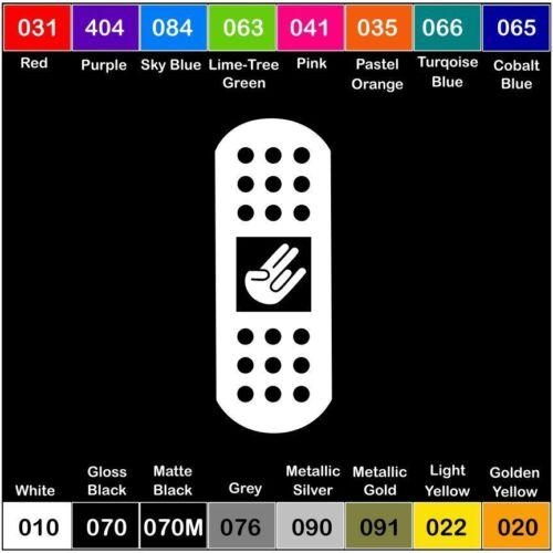2x BAND-AID SHOCKER V2 Sticker Decal Car Vinyl JDM Bandaid Bandaids Bandage