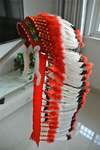 36inch indian feather headdress indian warbonnet american costume supply