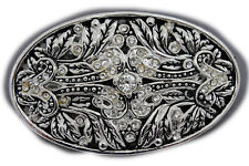 New Men Women Gunmetal Pewter Color Metal Belt Buckle King Crown Queen Bling