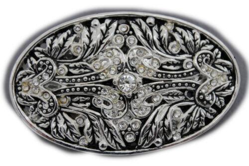Men Women Gunmetal Pewter Metal Belt Buckle King Crown Queen Bling Filigree Fun