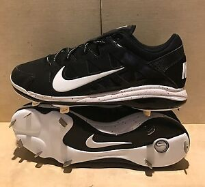 Nike Air 684693-010 Hyperdiamond Pro Black White Softball Cleats ... 9ec5799c93