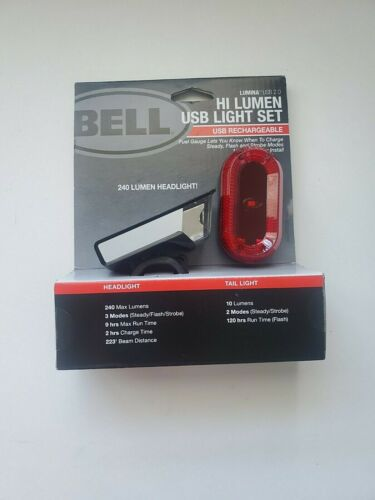 BELL HI-LUMEN Rechargeable Light Set 7070570 LUMINA Hi-Lumen USB Light Set NEW