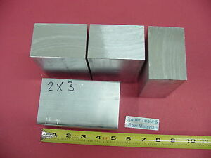 "4 Pieces 2"" X 3"" ALUMINUM 6061 FLAT BAR 5"" Long Solid T6511 Mill Stock"