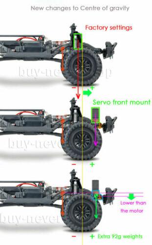 1//10 RC 118g Heavy Duty Brass Front Bumper w//Servo Mount For Traxxas TRX-4 US