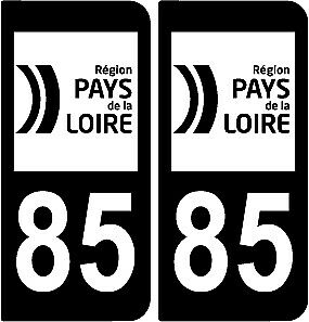 2X Stickers EUROPE FULL BLACK NOIR BLANC GAUCHE style AUTO Immatriculation B