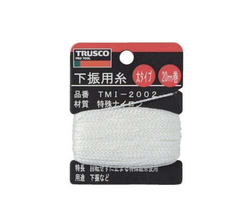 TRUSCO string pour PLUMB BOB Setter Longueur 20 m 1.20 mm TMI-2002 MADE IN JAPAN