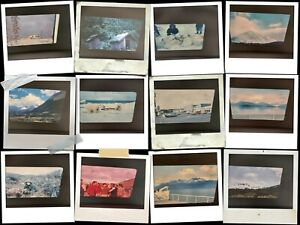 Vintage-Lot-of-34-Color-Photo-Slides-1960-039-s-Alaska-Hunting-Mountains-Polar-Bears