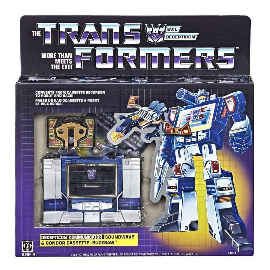 Los niños Transformers, las antigüedades G1, el sonido y buzzsaw.