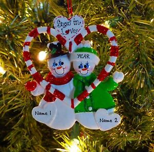 candy cane love couple our first christmas personalized