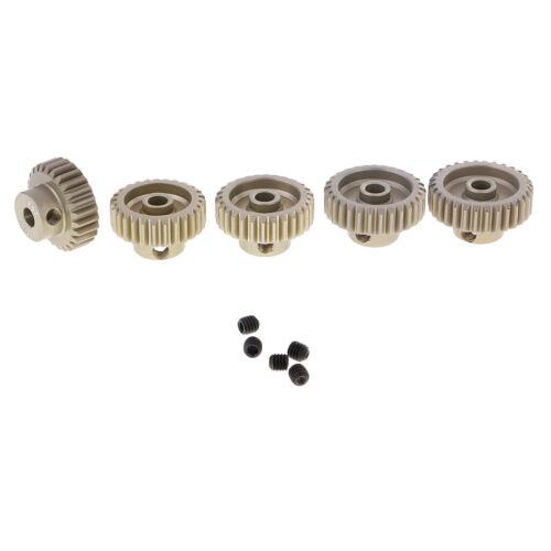 5Pc 26T-30T Stahl Motor Ritzel Getriebe 3.175mm Welle 48DP Für RC 1:10
