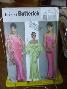 Oop-Butterick-4733-misses-evening-gown-flounce-wrap-2-styles-sz-8-14-NEW