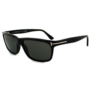 7402f13abc6e Tom Ford Sunglasses 0337 Hugh 01N Shiny Black Green Polarized ...