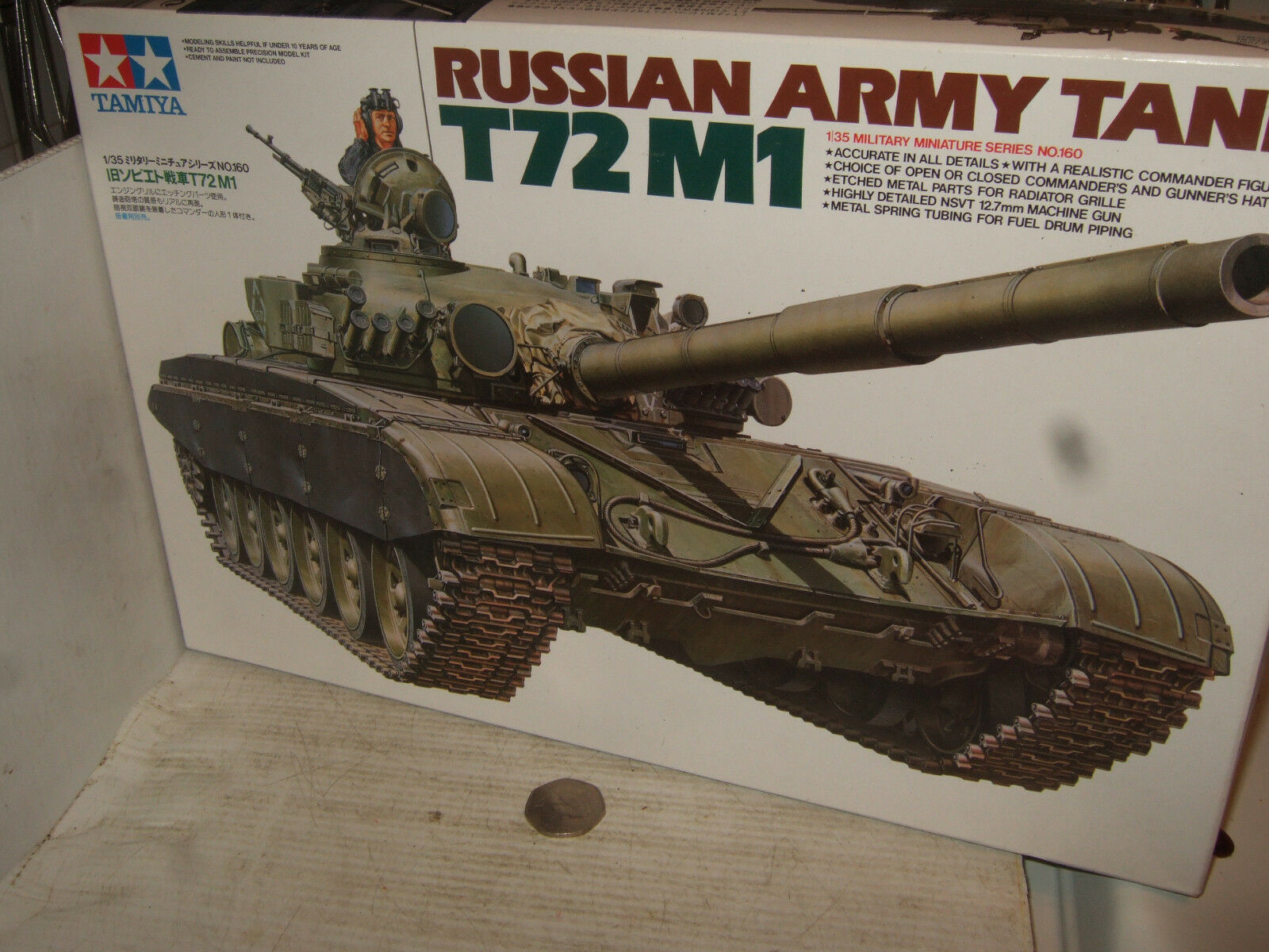 Tamiya 35160 Russian Army Tank T72 M1 Model Kit in 1 35 Scale.