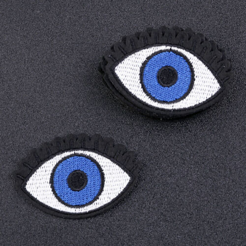 DIY Blue Eye Embroidery Sewing Fabric Iron On Patch Cloth Applique Decor 10 pcs