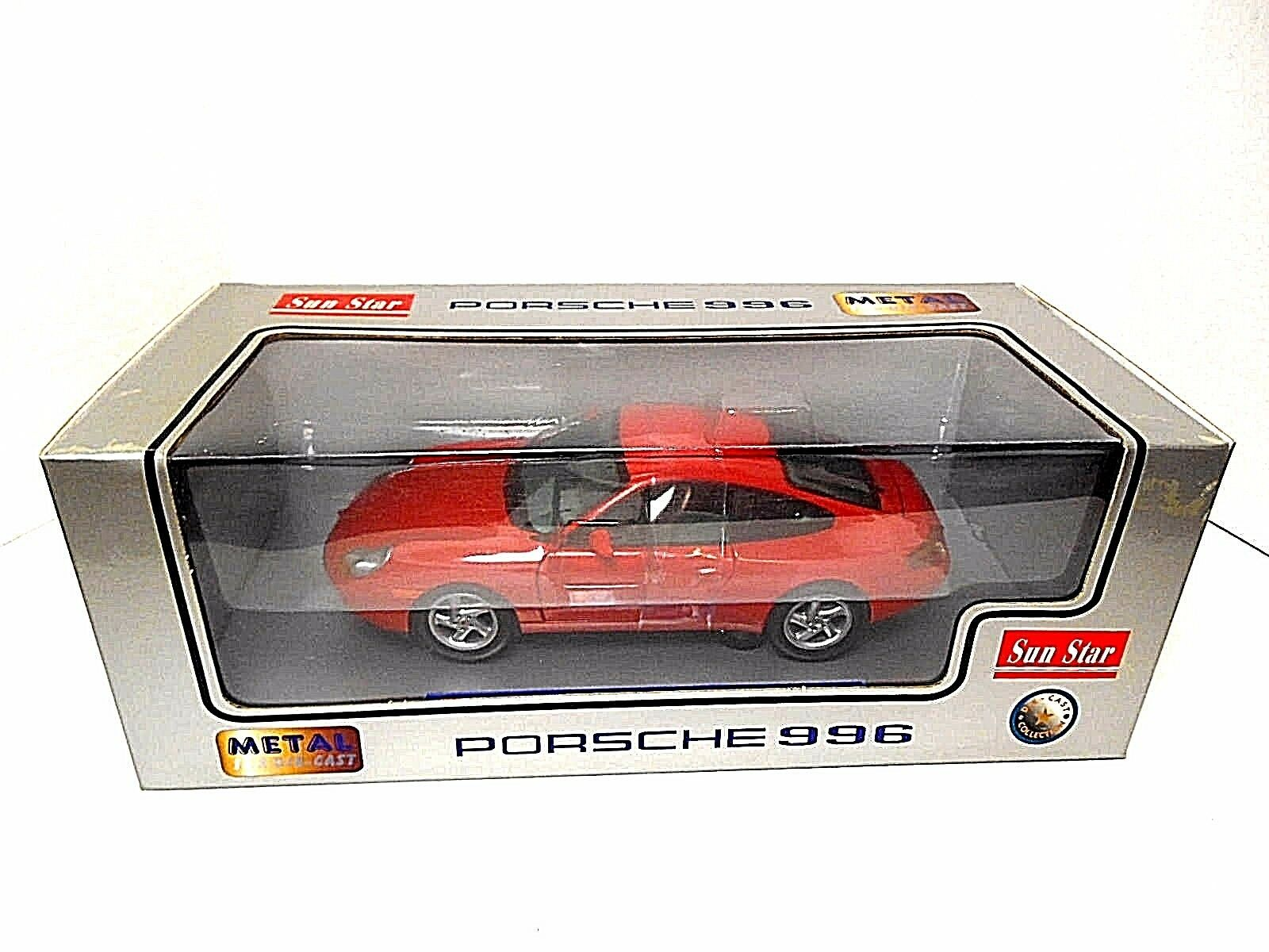Sun Star 'rosso Porsche Coupe 996'  Die-Cast  1 18