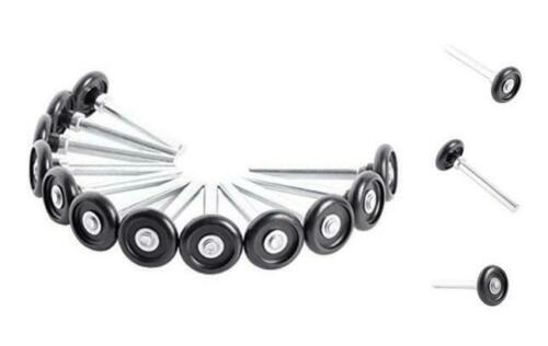 """Home Master Hardware 1-3//4/"""" Nylon Garage Door Rollers with 4/"""" Stems Zinc Plated"""