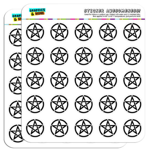 """Pentagram Pentangle Star Wiccan Witch 1/"""" Scrapbooking Crafting Stickers"""
