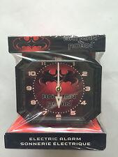 NEW 1997 Batman & Robin Super Heroes Logo Red Black  ELECTRIC ALARM CLOCK SEALED
