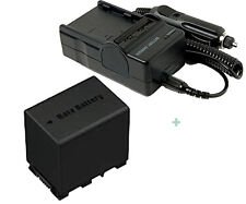 Battery + Charger For BN-VG114E BN-VG138 JVC Everio GZ-MS240 GZ-MS150 GZ-HM450