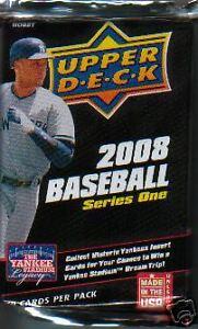 NIB 2008 UD Baseball Series 1 MLB Baseball 1 Pack Cards