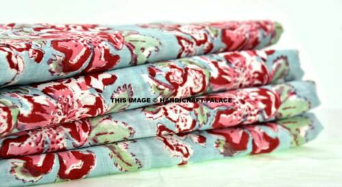Indian Block Print Cotton Fabric Sewing Dress Craft Accessories By 1//2.5//3 YD
