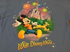Walt Disney World Mickey Mouse And Pluto Outside Magic Kingdom XL T Shirt